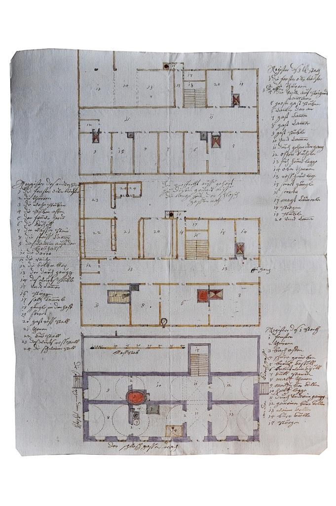 Abb_4_Entwurfsplan Neubau Gasthaus Schwarzer Adler 1702_Grundriss
